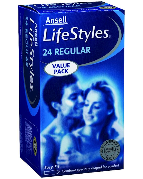 Ansell Lifestyles Regular 24 Pack - Clear